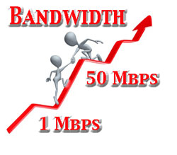 Your options for 50 Mbps include both copper and fiber optic service...